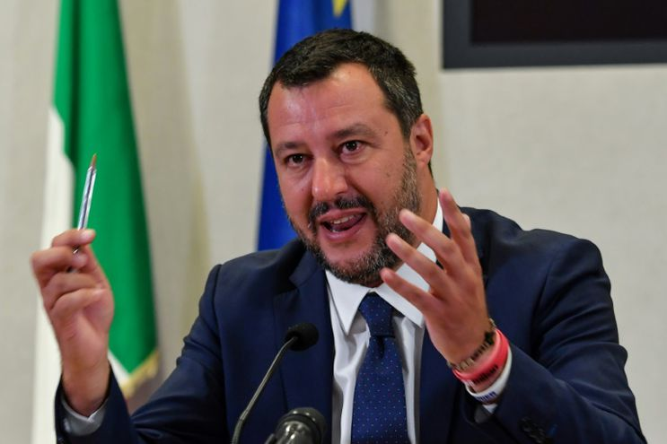 Matteo Salvini, vicepresidente de Italia, da una rueda de prensa tras una reunión con sindicatos de trabajadores el pasado 15 de julio en Roma.
