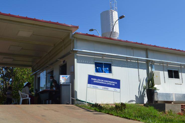 Pabellón de contingencia de San Ignacio, cuya capacidad está saturada.