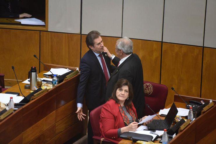 Luis Castiglioni retornó a su banca en al Cámara de Senadores.