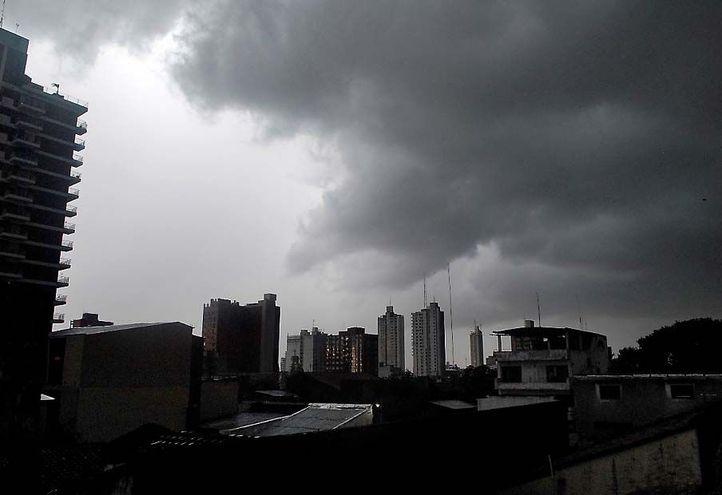 Una jornada inestable, con lluvias y tormentas, se anuncia para hoy.