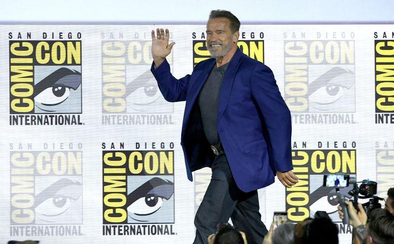 """Arnold Schwarzenegger habló acerca de """"Terminator: Dark Fate"""" en un panel durante el """"Comic-Con International"""", en San Diego, California."""