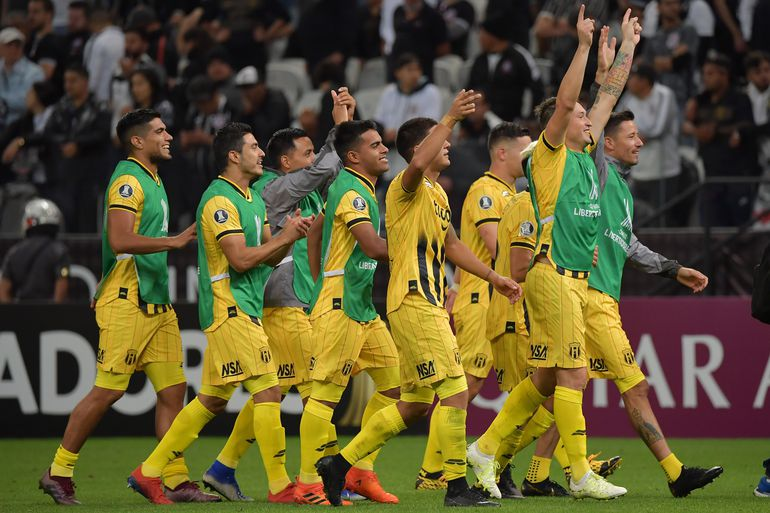 Como en el 2015. El Cacique se agigantó en Brasil y eliminó al Corinthians de la Copa Libertadores.