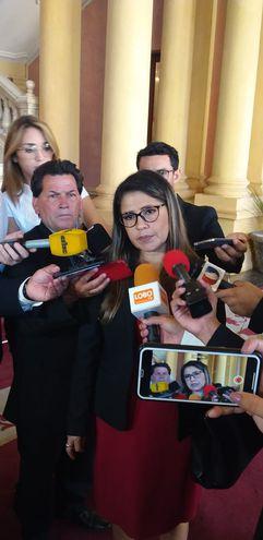 Ministra de Justicia, Cecilia Pérez.