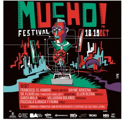 Afiche que promociona el evento en el que figura el grupo nacional junto a las demás bandas.