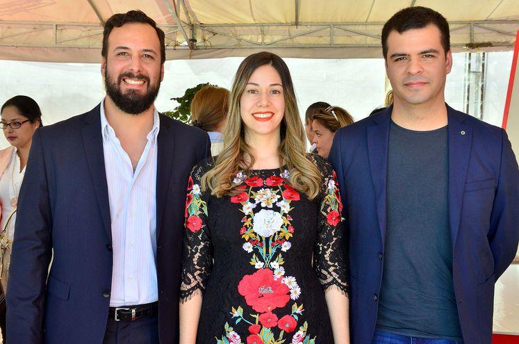 Pedro Pereira Brunelli, Paola Gamarra y José Pereira Brunelli.