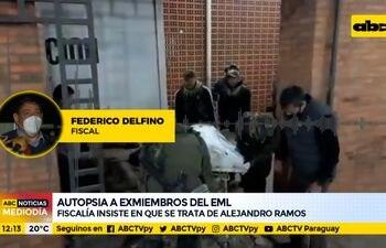 Fiscalía insiste en que abatido es Alejandro Ramos