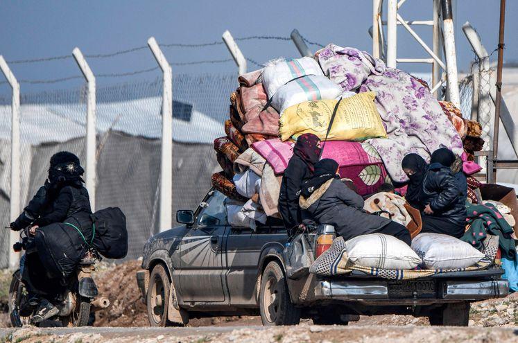 Suman más de un   millón de desplazados en la ofensiva en  el norte de Siria, último bastión de los rebeldes.
