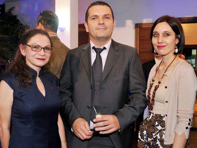 Embajadora de Francia, Sophie Aubert, Enrique Naetz y Fanny Larve