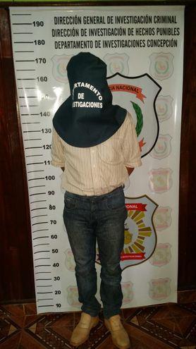 Cornelio Chaparro Ovelar, detenido.