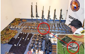 La pistola calibre 9 milímetros incautada del Comando Vermelho, el 4 de octubre de 2018, y la misma arma incautada de nuevo, pero esta vez de un sicario del narco Samura, el 25 de marzo de 2021.