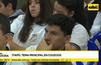 Itaipú, tema principal en colegios