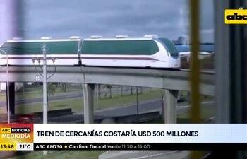 Tren de cercanías costaría unos 500 millones de dólares
