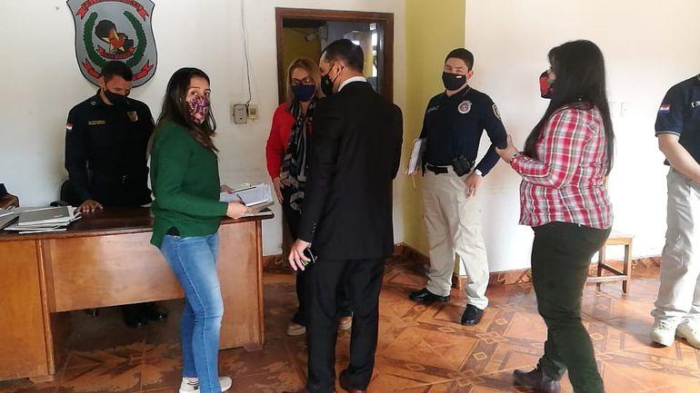 La comitiva asuncena allanó la fiscalía y la comisaría de Curuguaty.