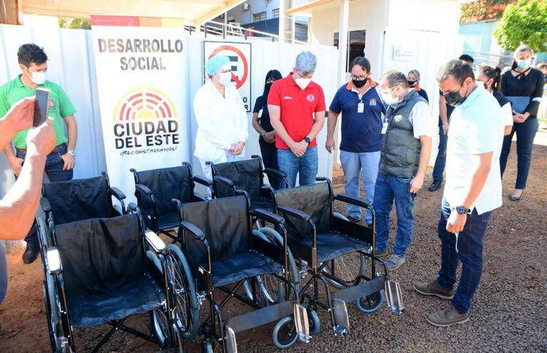 Las sillas de ruedas serán  utilizadas para la movilidad de los pacientes con covid-19.