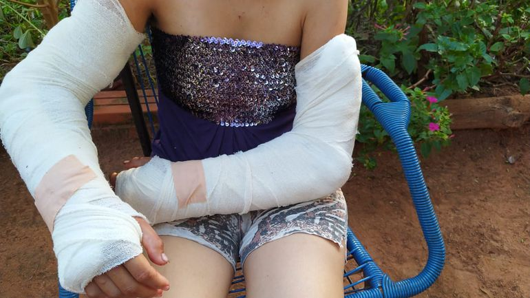 Yenny Acosta, víctima de violencia por parte del padre de sus hijos