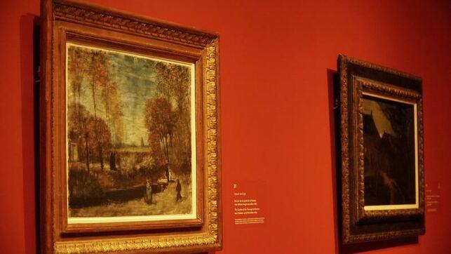 Algunas de las obras de Van Gogh que se exponen en Bolduque, Holanda