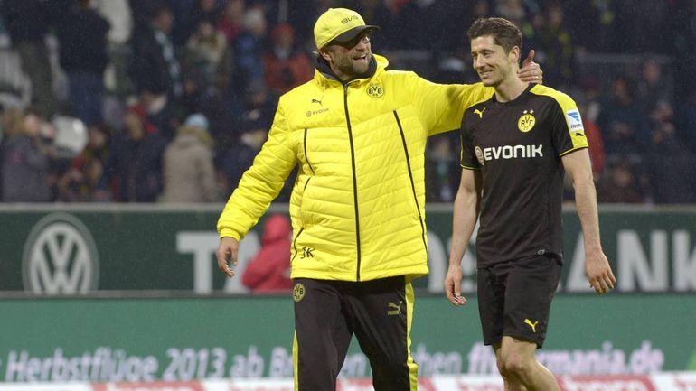Klopp y Lewandowski coincidieron en el Borussia Dortmund.