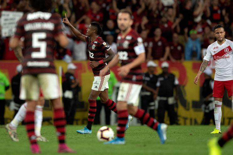 Bruno Henrique, autor de los dos goles del partido.
