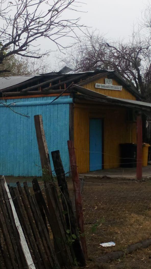 Temporal afectó viviendas en Bahía Negra.