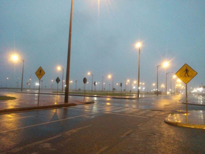 Lluvias en zona de la avenida República del Paraguay.