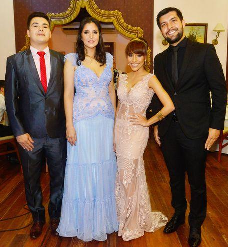 Yamil Vigo, Mariela Méndez, Gillyane Pedreira y César Vera.