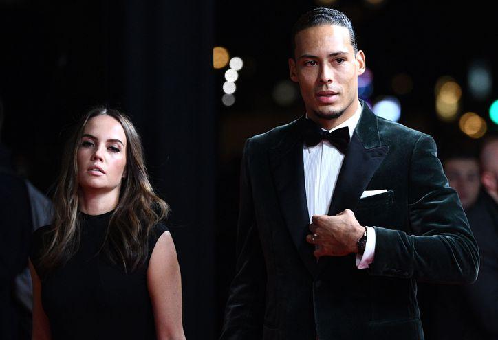 Virgil van Dijk y su esposa Rike Nooitgedagt en la gala del Balón de Oro.