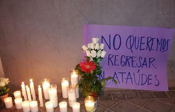 Foto ilustrativa sobre protesta contra el feminicidio.