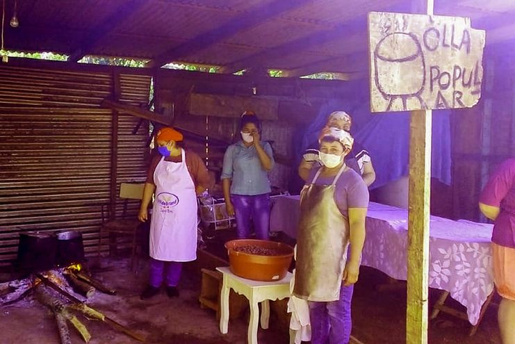 Una de las ollas populares asistidas por el Ministerio de Desarrollo Social (MDS), según su oficina de comunicación.