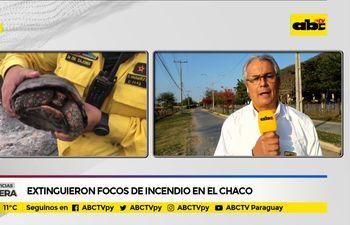 Extinguieron focos de incendio en el Chaco
