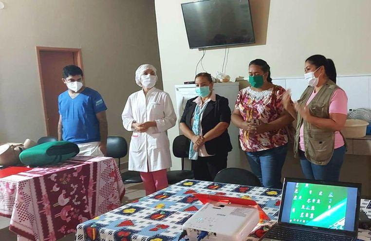 Personal de Salud del Hospital Mariscal Estigarribia en un reciente taller de capacitación.