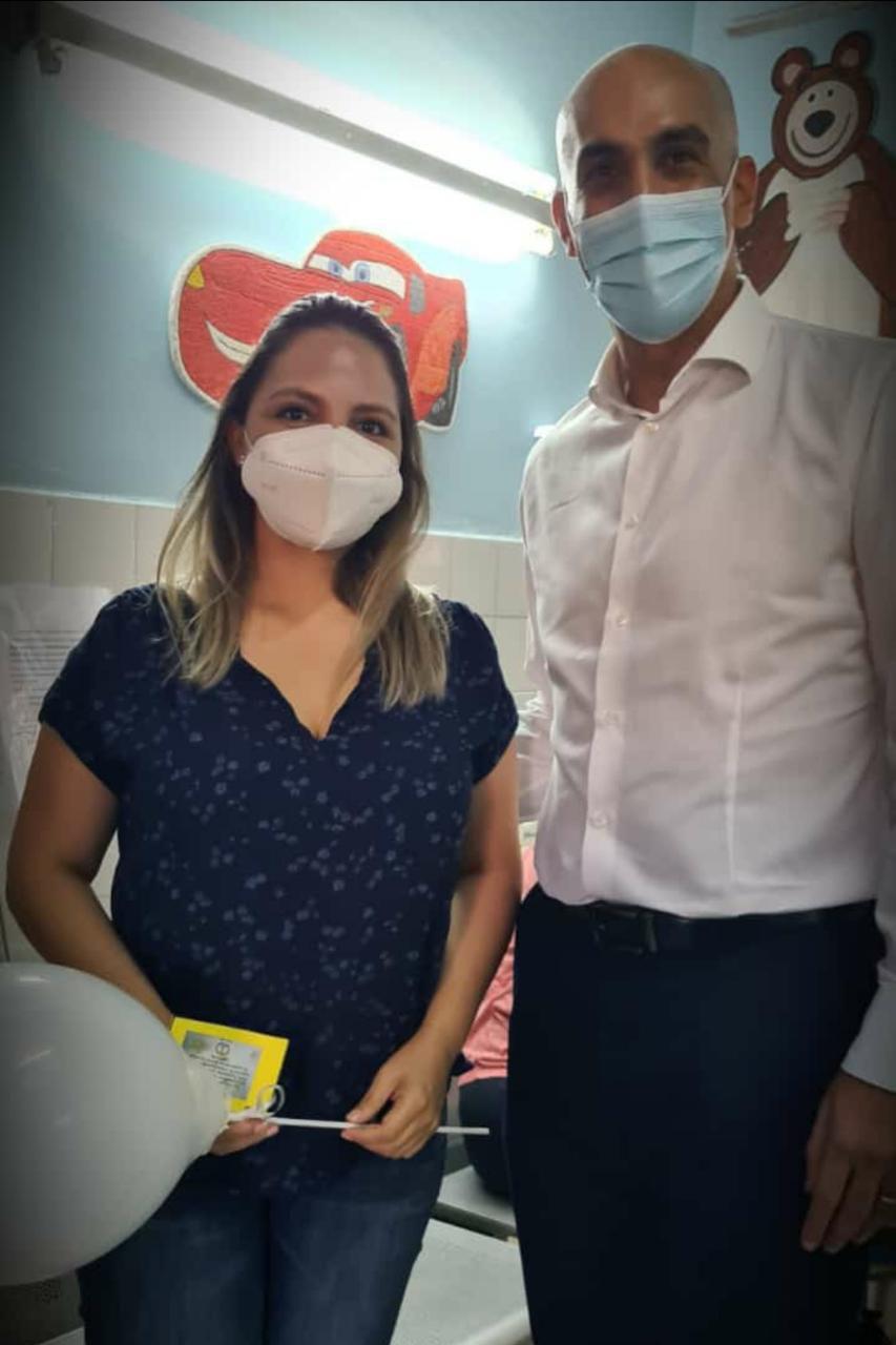 Rossana Caballero, médica inmunizada en el primer grupo de vacunados contra el covid-19.