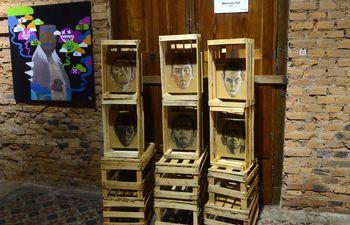 Obras expuestas durante la segunda edición de la feria de arte Oxígeno, que en 2019 se realizó en Textilia.