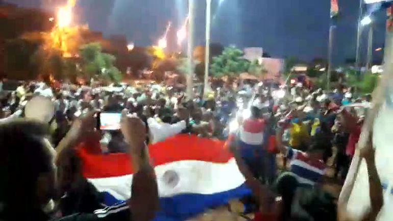manifestantes en Pedro Juan Caballero