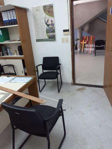 Este es el lugar de la oficina administrativa donde ingresaron los malvivientes.