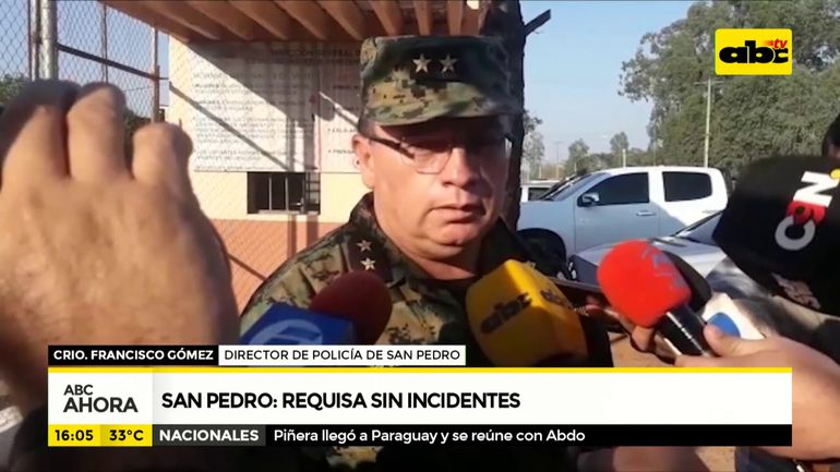 San Pedro requisa sin incidentes