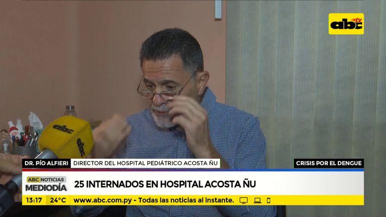 Dengue: 25 internados en el hospital Acosta Ñu