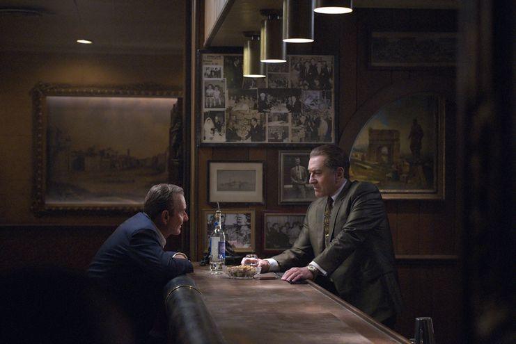 "Joe Pesci y Robert De Niro en ""El Irlandés""."