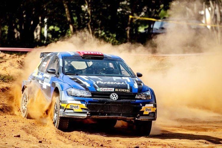 Antes del viaje a España, Fabrizio Zaldívar entrenó en el kartódromo y luego en Villeta con el VW Polo GTI R5.