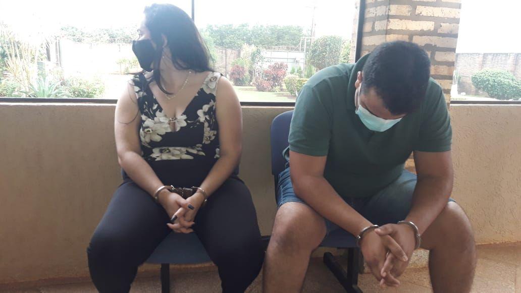 Sady Lorena Rodríguez Martínez y David Gabriel Mora Martínez, detenidos en el procedimiento.