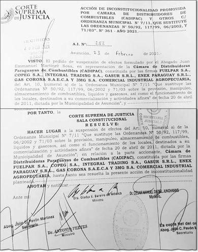 La medida cautelar deja sin efecto el artículo 1 de la ordenanza 7/11 de la ciudad de Asunción.