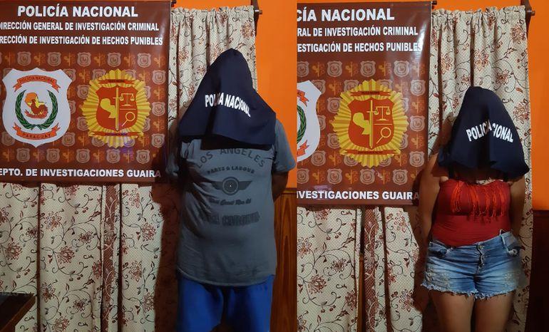 Wellington Rodrigues Ferreira de Oliveira y a Laura Pineli, ambos brasileños buscados por narcotráfico fueron detenidos en Guairá.