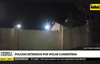 Policías detenidos por violar cuarentena