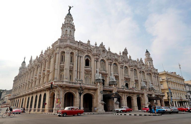 Fachada del Gran Teatro de La Habana Alicia Alonso,en la capital cubana.