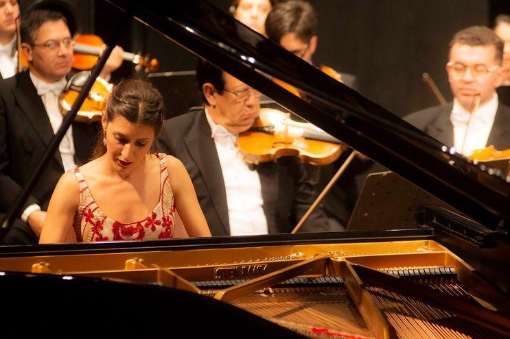 La concertista de piano Chiara D'Odorico.