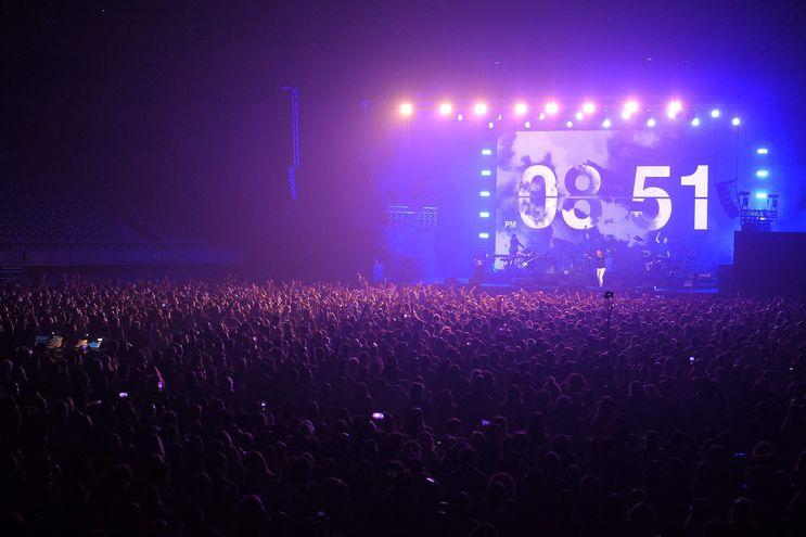 Vista del concierto realizado el pasado 27 de marzo, en el Palau Sant Jordi de Barcelona, con 5.000 asistentes.