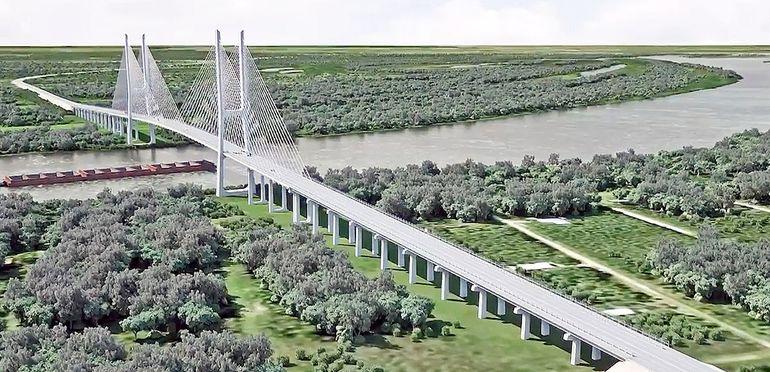 Maqueta de cómo quedaría el puente cuyo diseño fue elaborado por el Consorcio Prointec.