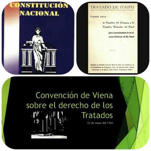 El marco jurídico que rige a las entidades binacionales de Itaipú y Yacyretá son: la Constitución Nacional del Paraguay, los tratados respectivos y la Convención de Viena, sobre derecho de los tratados.
