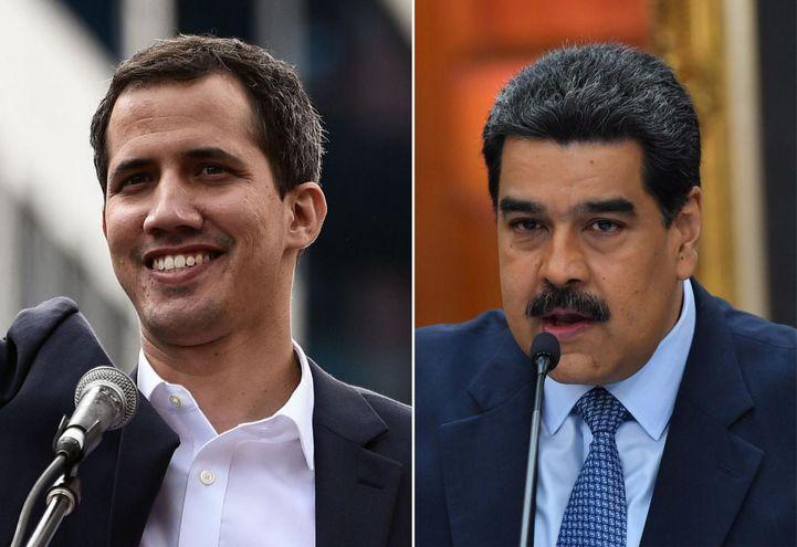 Juan Guaidó y Nicolás Maduro (Archivo).