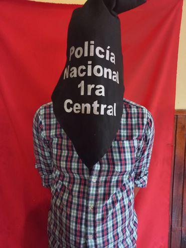 El detenido por contar con orden de captura internacional.