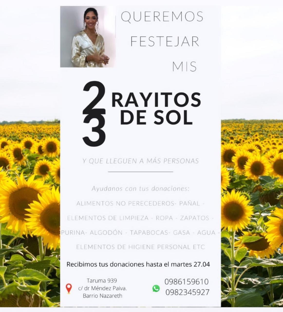 Campaña solidaria promovida por familiares María Sol Chávez Franco, joven fallecida por presunta negligencia de odontóloga.